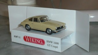BMW 1600 GT Coupé 1968 , escala 1/87 , de la marca Wiking .