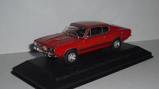 Plymouth Barracuda Sports Fastback Formula S de 1968 , escala 1/43 , de la colección