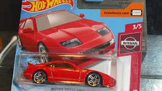 Nissan 300ZX Twin Turbo , color rojo , escala 1/64 , de Hot Wheels .