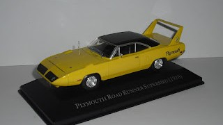 Plymouth Road Runner Superbird de 1970 , escala 1/43 , de la colección