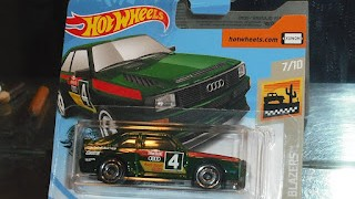 Audi Sport Quattro de 1984 , escala 1/64 de Hot Wheels .