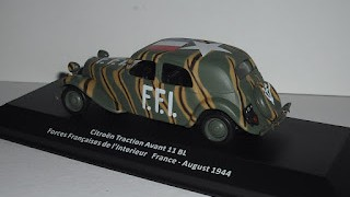Citroen Traction Avant 11BL , escala 1/43 , Forces Crançaises de L´interior , de la colección