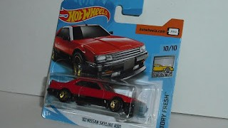 Nissan Skyline R30 de 1982 , escala 1/64 , de Hot Wheels .