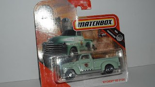 Chevrolet Pick up AD 3100 de 1947 , escala 1/64 de Matchbox .