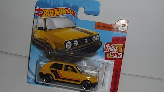 Volkswagen Golf MK2 , escala 1/64 de Hot Wheels .