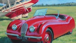 jaguar xk 120 roadster / soft top (1951)