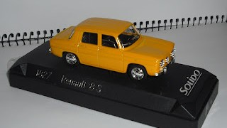 Renault 8 S , escala 1/43 , Color Amarillo de la marca Solido .