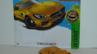 Mercedes AMG GT , escala 1/64 , de Hot Wheels