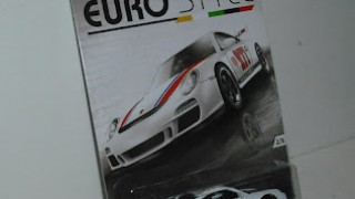 Porsche 911 GT3 RS , escala 1/64 , colección Eurostyle de Hot Wheels .