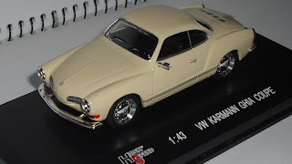 Volkswagen Karmann Ghia Coupe , escala 1/43 , de la marca High Speed .