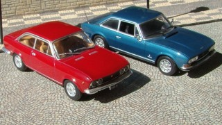 Comparativo fiat 124 coupe (1969)  / peugeot 504 coupe (1970)