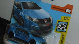 Honda Civic Type R de 2016 , escala 1/64 de Hot Wheels .