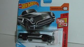 Chevrolet Corvette 1955 , escala 1/64 de Hot Wheels .