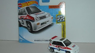 Honda City Turbo II de 1985 , escala 1/64 de Hot Wheels .