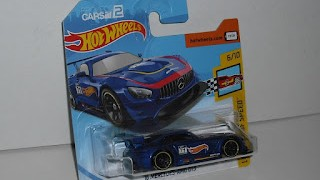 Mercedes AMG GT3 de 2016 , escala 1/64 de Hot Wheels .