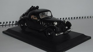 Citroen Traction Faux - Cabriolet 7C -Gaz de Ville 1937 , escala 1/43 .
