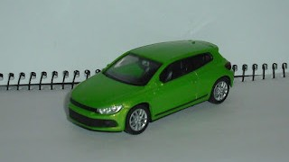 Volkswagen Scirocco , escala 1/43 , color verde salvaje , de Welly