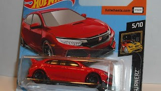 Honda Civic Type R de 2018 , escala 1/64 de Hot Wheels .