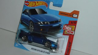 Nissan Skyline GT - R R33 , escala 1/64 de Hot Wheels .
