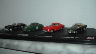 Mercedes Benz 300SL Cabrio , Mercedes Benz 300SL Carrera Panamericana , Mercedes Benz 300SL Coupé , Mercedes Benz 560SL Softtop , Pack 4 Mercedes , Escala 1/72 de Schuco .